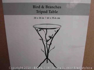Bird & Branches Tripod Table