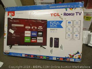 "TCL Roku TV 55"" Smart TV DAMAGED"