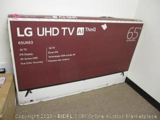 "LG UHD TV AI ThinQ 65"" DAMAGED"
