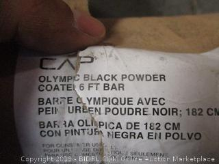 CAP Olympic Black Powder Coated Super Curl Bar