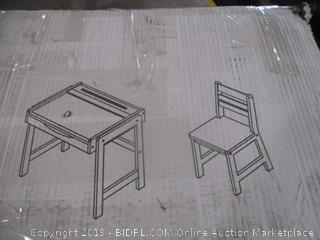 Chalkboard Desk and Chair