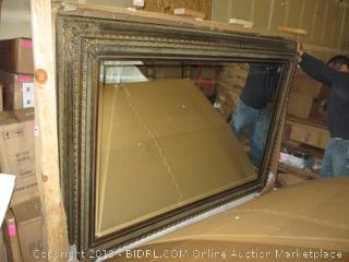 Framed Mirror , minor damage, opened for pictureing