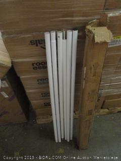 Outsunny Sun Sail Shade Canopy Pole Kit Dented, scratched