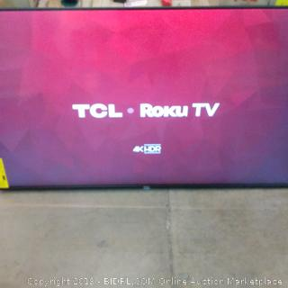 """TCL Roku 4K HDR TV 55"""" box damage see pictures"""