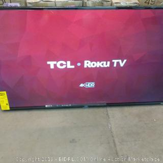 """TCL Roku TV 4K HDR Smart TV 50"""" See Pictures  box damage"""