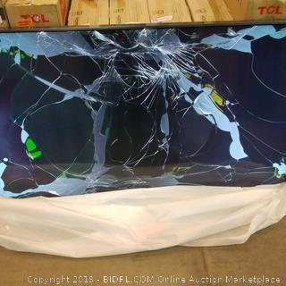 """TCL Roku 4K HDR TV 55""""  Cracked Screen See Pictures"""