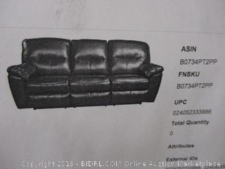 Ashley Furniture Signature Design - Kilzer DuraBlend Reclining Sofa - Contemporary Reclining Couch - Mahogany (Retail $778.00)