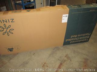 Zinus Upholstered Button Detailed Platform Bed, King