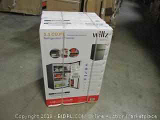 Willz 3.1 Cu Ft Refrigerator Dual Door True Freezer, Stainless Steel ($197.00)