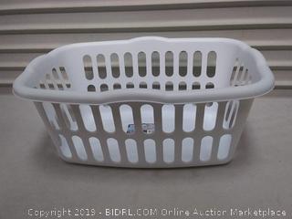Sterilite Rectangular Laundry Basket, White