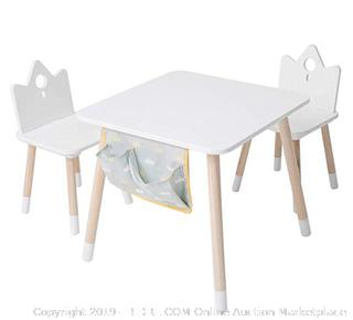 Jolie Vallee Crown table set (White and natural wood)