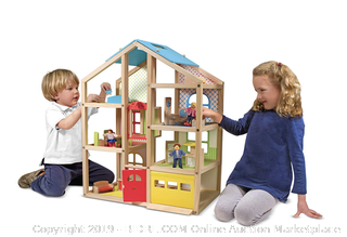 Melissa & Doug Hi-Rise Wooden Dollhouse and Furniture Set ($100 Online)