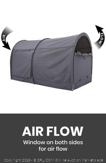 Alvantor Canopy Bed Dream Privacy Space Full Sleeping Tent Pop Up Portable Grey Cottage (Mattress Not Included) (online $99)