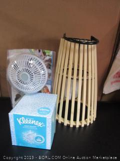 Kleenex Tissue, Table Fan