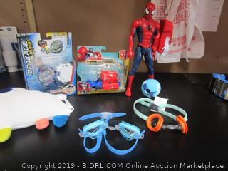Spider Man Action Figure, Goggles, Transformer