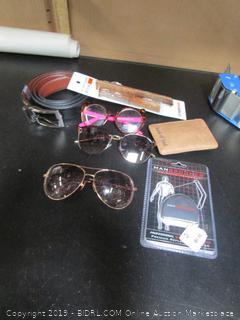 Belt, Sunglasses Misc. Lot