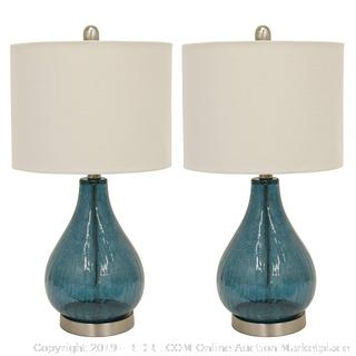 Decor therapy table lamp Emerald blue green (online $70)