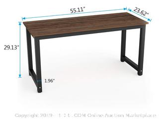 Tribesigns Vintage Computer Desk, 55 inch Large Office Desk Computer Table, Oak Brown (online $129)