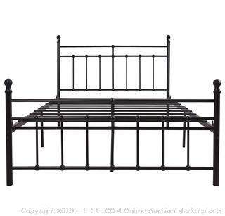 metal bed frame full size premium steel slat support (online $139)