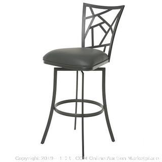 Homestead swivel bar stool matte gray (online $200)
