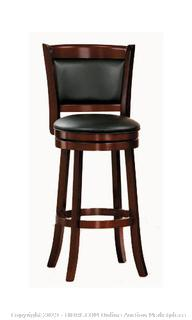 """Homelegance 43""""H Shapel Swivel Counter Height Chair in Cherry (online $103)"""