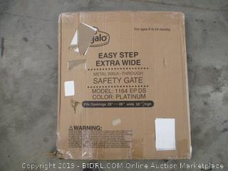 Easy Step Extra Wide Metal Walk Through Safety Gate