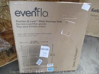 Evenflo Position & Lock Wide Doorway Gate (Damaged)