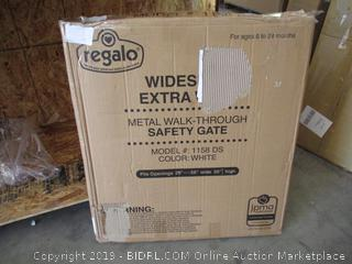 Regalo Extra Large Widespan Metal Walk Through Safety Gate