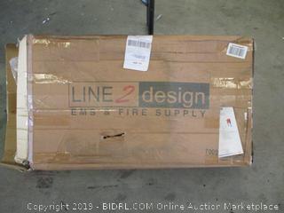 Line 2 Design 2 Wheel Stair Chair-Orange