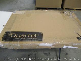Quartet Magnetic Whiteboard Calendar, Glass Dry Erase White Board Planner, 3' x 2', White Surface