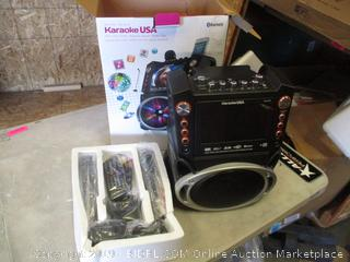 All in One Karaoke USA DVD/CDG/MP3G/ Bluetooth Speaker/ Media Player Powers on See Pictures