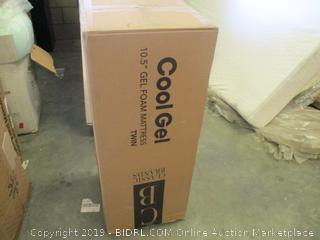 """Cool Ge; 10.5"""" Gel Foam Mattress Twin"""