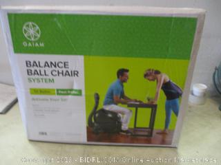 balance ball chair system
