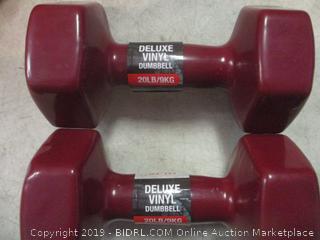 deluxe vinyl dumbbells