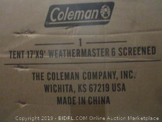 tent 17'x9' weathermaster 6 screened item