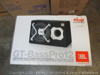 GT-BassPro12 subwoofer actif 300mm for automobile - new, box damage