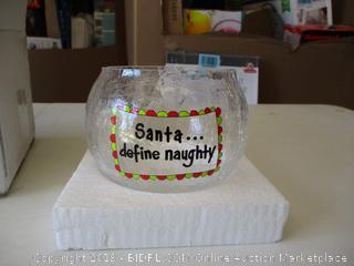 Santa Define Naughty Cookie Jar
