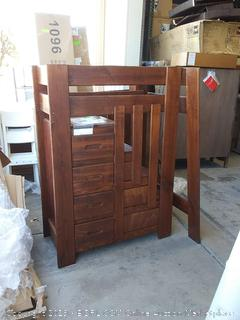 Twin over Twin Bunk Bed With Stairs (no hardware)