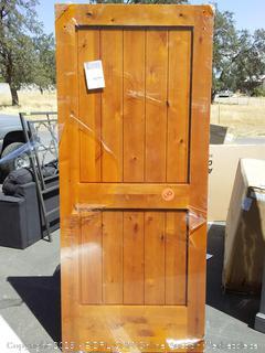 creative entry interior knotty Alder door with rails (scuffed)