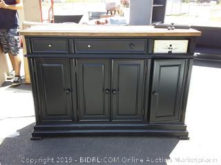 courtdale sideboard dresser( dresser door broken/ knob broken/ bottom corner chipped)