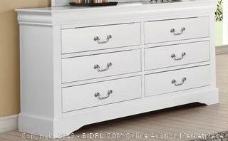 Priscilla 6 Drawer Double Dresser (online $569) few scratches, see photos