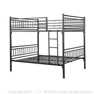 metal full bunk bed