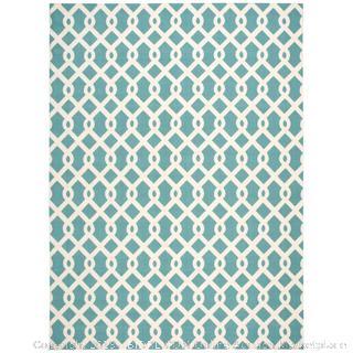 sun n' shade blue indoo 10' X 13' floor rug (dirty) Online $218