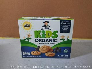 Quaker Kids Bites Whole Grain Organic Blueberry 5.20 oz / 1 Box