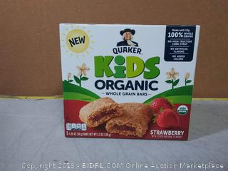 Quaker Kids Whole Grain Bars, Organic, Strawberry 5ct