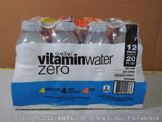 vitaminwater zero variety pack nutrient enhanced water w/ vitamins, 20 fl oz, 12 Pack,
