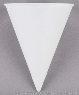 Solo Bare Eco-Forward 6oz White Rolled Rim Paper Cone Cup, 600