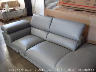 Chastain Leather Sectional, Gray - Missing 2nd Half