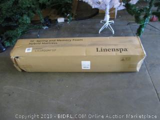 "Linenspa Queen 10"" Spring and Memory Foam Hybrid Mattress"