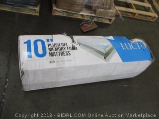 "Lucid 10"" Plush Gel Memory Foam Mattress Full"